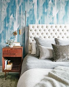 Blue accent wall wal