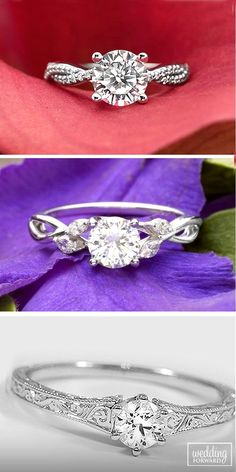 Simple Engagement Rings For Girls Who Loves Classics ❤ If you can't to choose the appropriate style or your girl don't love bling select classic, simple engagement ring. See more: http://www.weddingforward.com/simple-engagement-rings/ #wedding #engagement #rings