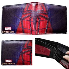 Marvel Comics Spiderman Leather Bi-fold Men's/Boys Wallet with Gift Box -- You can find out more details at the link of the image.