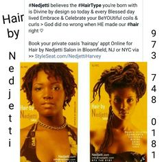 Book your private NJ or NYC appt Online via StyleSeat.com/NedjettiHarvey