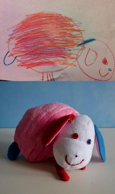 This company custom makes stuffed animals from child's drawing. Awesome gift idea!