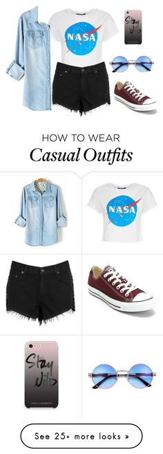 """#casual"" by al4xa on Polyvore featuring rag & bone/JEAN, Converse and Rebecca Minkoff"