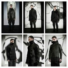 "What's trending in mens outerwear  DARK FUTURISTIC AND INDUSTRIAL  #LeonEmanuel @Blanck 2015-2016 Fall/Winter ""RIGOR MORTIS"" Lookbook FEATURES atypical designs of coats, leather jackets, sweaters, knitwear, long-sleeved tops and pants that feature anatomical wool and cashmere fused lining, which gives the collection that patchwork style and external stitching detailing.  #RigorMortis #Blanck #goth #mensfashionweek2015 #menswear #mensfashionblog #mensfashion #menstyle #mensfashionpost #dapper…"