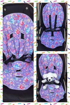 Add a splash of colour to your boring old pushchair by having a custom made liner and matching strap and buckle covers made in your choice of colour/pattern. This is a great way to re vamp your buggy for re using your old pushchair or if you just fancy something bright and colourful once youve found out the sex of your baby . . . Whatever the reason, these are a lovely addition to any pushchair. Set includes: 👶🏿pushchair liner 👶🏼buckle strap cover 👶🏽arm straps covers The set is m...