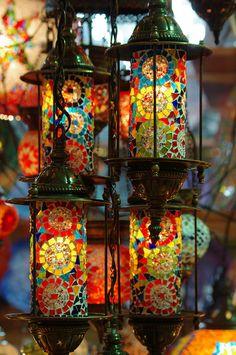 Gypsy: #Bohemian lamps of Grand Bazaar, Istanbul, Turkey, by JebbiePix.