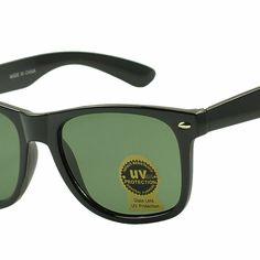 Classic 80s original scratch resistant green glass lens wayfarer. Style #SF6501F. www.sunglassstopshop.com