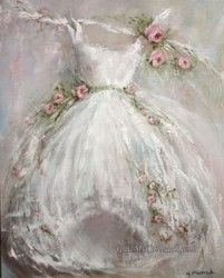 Original Painting on Canvas - Tutu and Roses - Postage is included Australia Wide