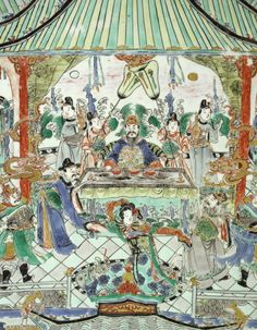 A massive, rare and impressive famille-verte 'banquet' dish, China, Qing Dynasty, Kangxi Period Famous Legends, Chinese Ceramics, Ancient China, Qing Dynasty, Fine Porcelain, Asian Art, White Ceramics, Art Decor