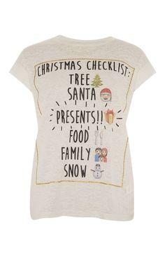 Primark - �Christmas Checklist� T-Shirt