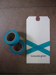 turquoise green masking tape $4