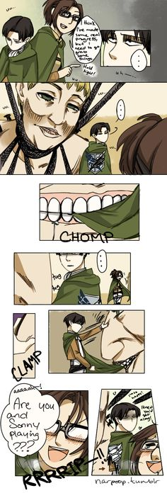 Yes! Captain Levi's reaction is priceless.