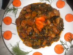Γίγαντες στον φούρνο με χόρτα και μυρωδικά Ratatouille, Meat, Chicken, Ethnic Recipes, Food, Essen, Meals, Yemek, Eten
