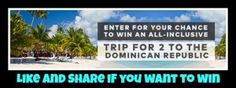 win a trip to Dominican Republic worth $3,000.