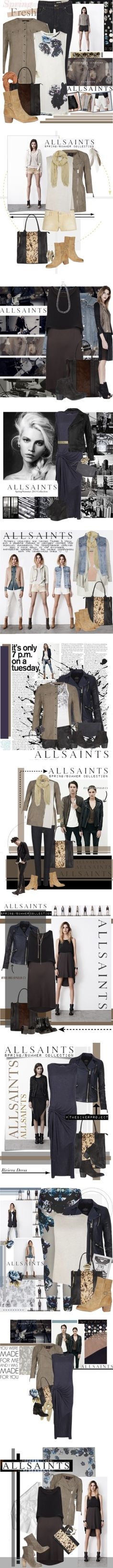 """""""AllSaints Spring 2013"""" by allsaints ❤ liked on Polyvore"""