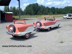 1956 Nash Metropolitan with trailer