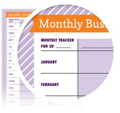 """Monthly Business Tracker - Download here: https://www.alejandra.tv/shop/printable-home-organizing-checklists/?utm_source=Pinterest&utm_medium=Pin&utm_content=Checklistk&utm_campaign=Pin   What gets tracked, gets managed. And when you're an entrepreneur its critical to track the """"numbers"""" in your business to measure growth. Use this tracker to track anything by month each year. Record monthly income and expenses, website traffic, social stats, or the monthly metrics of your choosing!"""