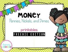 This is a sample of a much larger product that can be found in my store.  If you like these freebies, check out the product by clicking on the link below.Money (Pennies, Nickels, and Dimes) ~ Printables, Games, Task Cards