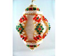 Прекрасные ёлочные украшения из бисера и бусин от Christine Heidema - Ярмарка Мастеров - ручная работа, handmade
