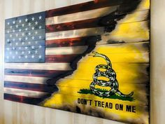 American flag / don't tread on me wall hanging