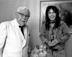 Colonel Sanders with Alice Cooper