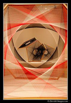 Nike Savvas @ Leeds Art Gallery by Dervish Images, via Flickr Textiles, Shop Window Displays, Thread Art, Display Design, Stage Design, Medium Art, Decoration, A Level Art, String Installation