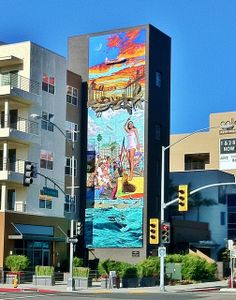 BEAUTIFUL apartments after exiting the 710 to downtown on Broadway in Long Beach CA Long Beach State, Long Beach California, Digital Signage System, Beautiful Architecture, Beautiful Places, Places To Visit, History, City, Murals
