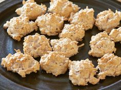 Toasty Coconut Macaroons from FoodNetwork.com - Dip them in Dark Chocolate to make them even better!