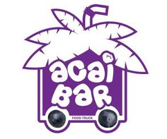 Funny Acai Bar food truck logotype with running wheels :D