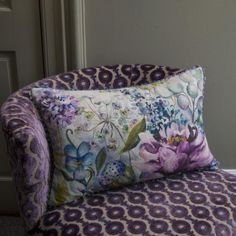 Voyage Maison Summer Floral Linen Cushion - Voyage Maison from Niche Living UK