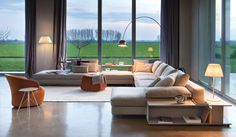 Sofa design is one of important furniture that must be applied to design living room such design of big sofas that is usually used to design living room Home Interior Design, House Interior, Living Room Decor, Luxury Living Room, Furniture, Sectional Sofa, Interior Design Shows, Sofa Design, Big Sofas