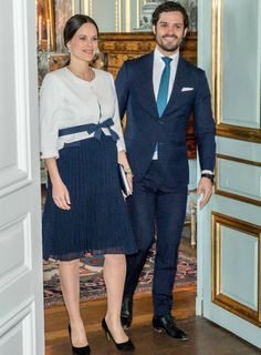 Prince Carl Philip and Princess Sofia attended the meeting of UN ambassadors