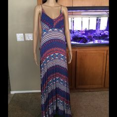 "Multi Color Maxi Worn once, excellent condition maxi. 100% rayon. So soft, so comfortable. Dress is approximately 49"" long from armpit down Nordstrom Dresses"