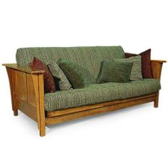 Addison Futon Frame by Strata Furniture. $684.00. Versatile use as a sofa or a bed. Solid hardwood construction for durability. Traditional futon frame crafted from solid hardwoodsCan be used as a full-size bed when opened. What We Like About This Futon Frame A classic design meant for any home decor. This Addison Futon will make additional seating comfortable, and be perfect for last-minute guests to sleep on. Constructed of solid hardwood, this futon is durable enough to last y...