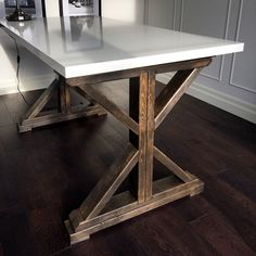 Urban Barn Inspired Desk / Table ....Rustic by MasarioCraft