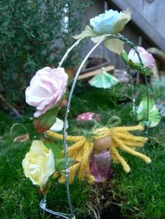 Things to make for a fairy garden (arbor, bed, bath, swing, washing line, furniture!)