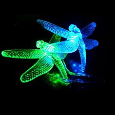 colorful pictures of dragon flies   USD $ 16.49 - 6M 3W 32-LED Colorful Light Dragonfly-Shaped LED String ...