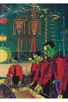 KRAFTWERK POPART poster. $7.99 USD, via Etsy.