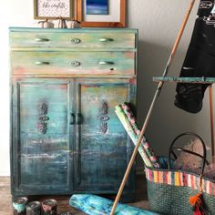 Hold Monet Vintage Hand Painted Dresser