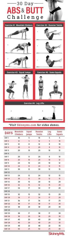 30-Day Abs and Butt Challenge Workout | Posted By: NewHowToLoseBellyFat.com