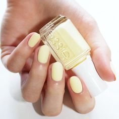 """Introducing: my very own essie shade, 'lauren's list', an ultra-flattering soft yellow (shown here with 'matte about you') .. I hope that you all love it as much as I do!! more on laurens-list.com Comment """""""" if you'd love to see a pastel yellow from essie! #essielove #laurenslist"""