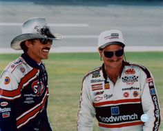 two of the greatest. To bad Jimmie Johnson wasn't in the picture.