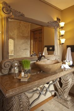 Exquisite powder room bath!