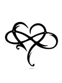 Heart With Infinity Tattoo, Love Heart Tattoo, Infinity Tattoo Designs, Small Heart Tattoos, Infinity Tattoos, Heart Tattoo Designs, Unique Infinity Tattoo, Infinity Rings, Heart Designs