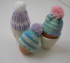 Easter Egg Cozy Set of 3 Mini Egg Hats Egg Warmers by CraftyMJC, $10.00