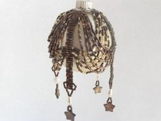 Copper and Cream Pearl and Abalone Shell by BeadsandThreadsbyAmy, $15.00