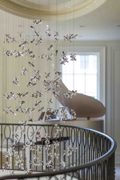 WINDFALL Chandeliers - The Flower staircase.