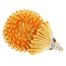 Kenneth Jay Lane Gold Plated Hedgehog with Ruby Eye Ring KJL-R0034