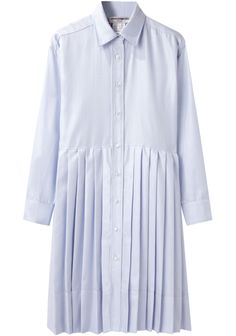good idea, to upcycle a shirt top and another pleated skirt bottom...