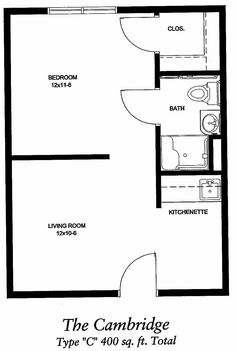 26 best 400 sq ft floorplan images on Pinterest | Tiny house plans ...
