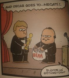 Oscar goes to... BİM mall avm market supermarket karikatür komedi dram